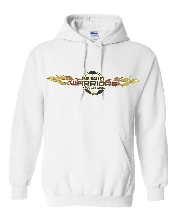 Warriors White Hoody