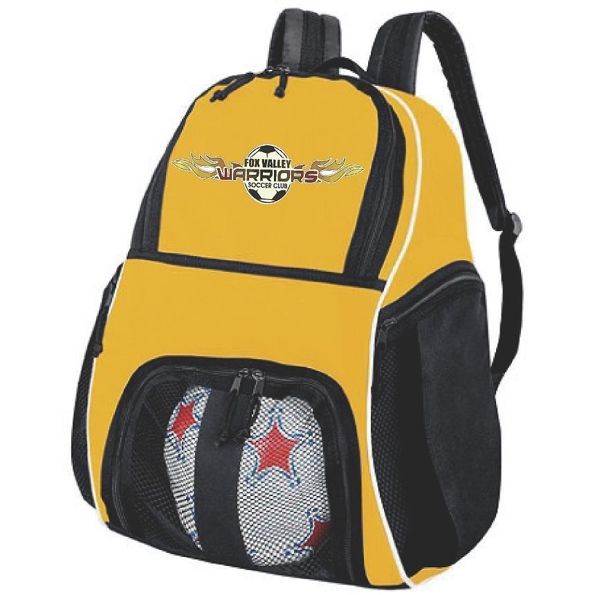 Warriors Yellow Backpack